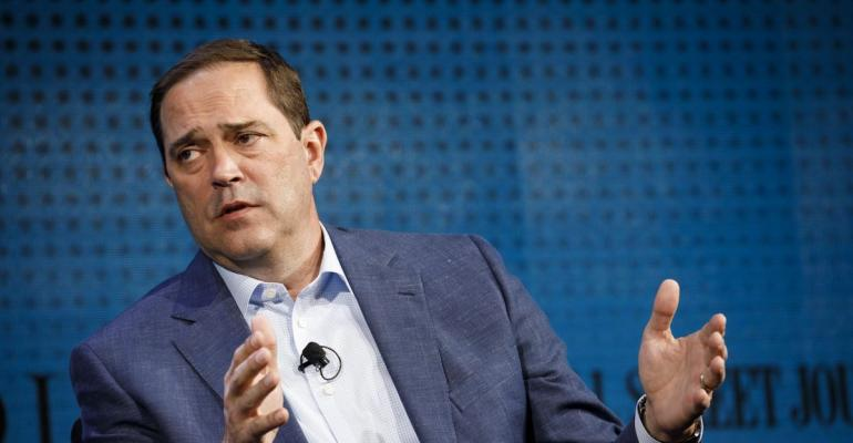 Chuck Robbins, chief executive officer of Cisco Systems Inc. Photographer: Patrick T. Fallon/Bloomberg