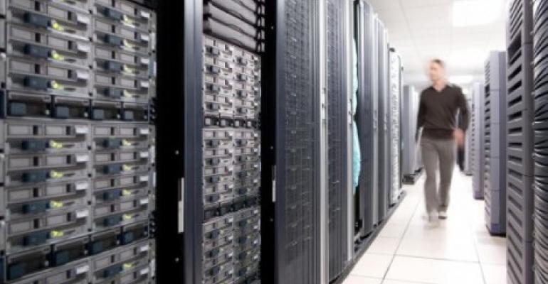Cisco UCS gear installed in a data center