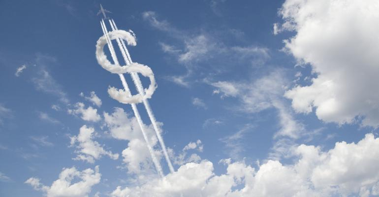 dollar sign made out of clouds