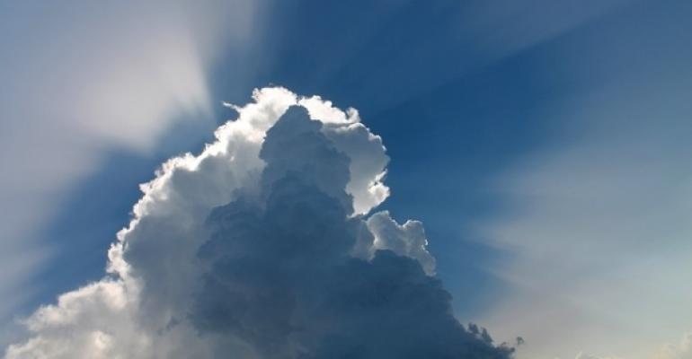 Clouds in a dark sky