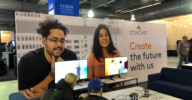 Comcast booth at Cloud Foundry North America Summit 2019