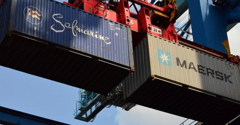Containers being loaded