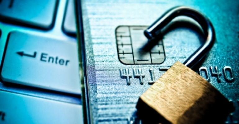 Padlock on credit cards