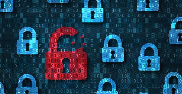 locks floating in data
