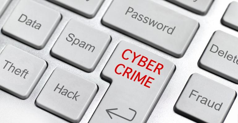 keyboard with cybercrime keys