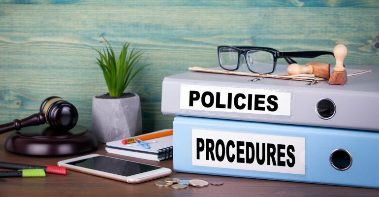 policies and procedures binders
