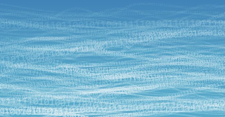data floating in lake