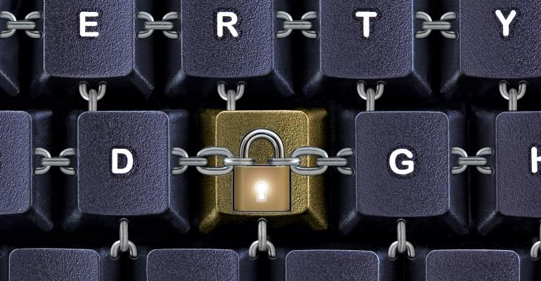 keyboard securely chained