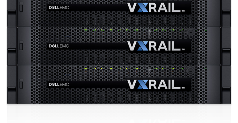 Dell EMC VxRail hyperconverged infrastructure (HCI) appliance.