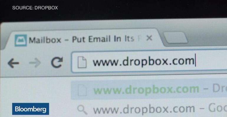 Here's a picture of Dropbox's interface