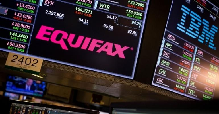 Equifax and IBM on stock board