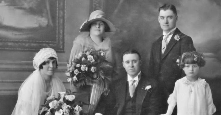 Wedding of Winifred Carmody and James Leonard, May 1927, Lawrence, Mass.