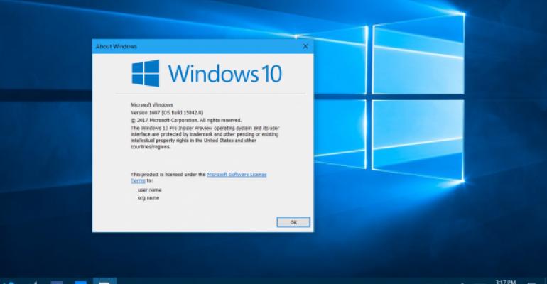 windows 10 creators update version number