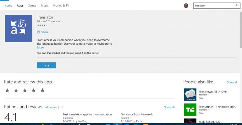 Take a tour of the Microsoft Translator App for Windows 10