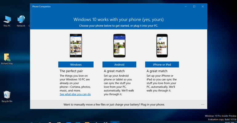 Gallery: Windows 10 Phone Companion App