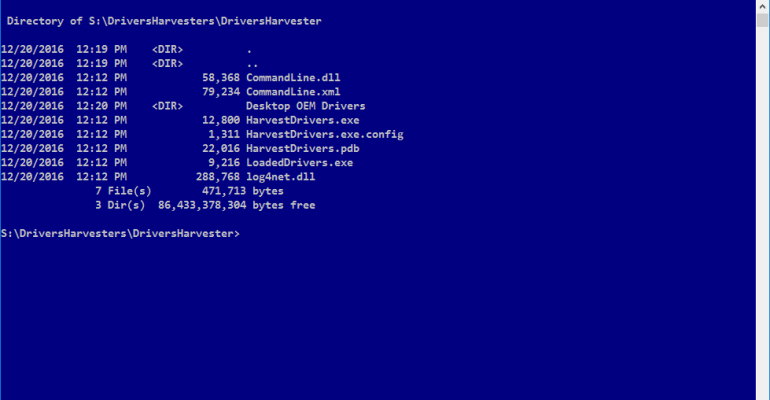 Drivers Harvester - Command Line Tool for Collecting OEM System Drivers
