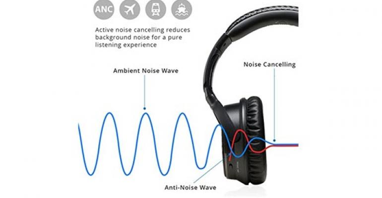 IdeaUSA AtomicX V201 Active Noise Cancelling Bluetooth Headphones