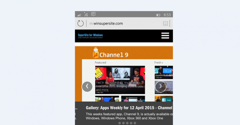 Gallery: Spartan browser in Windows 10 for phones (Build 10051)
