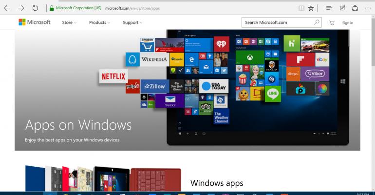 gallery universal windows app store on the web it pro