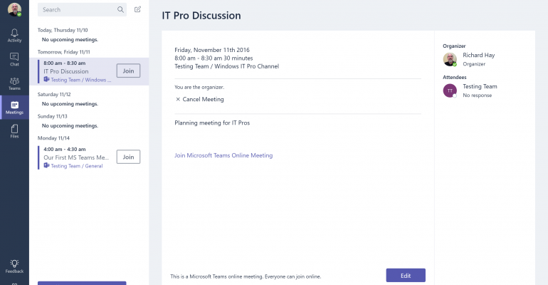 quick tip how to schedule and use meetings in microsoft teams it pro