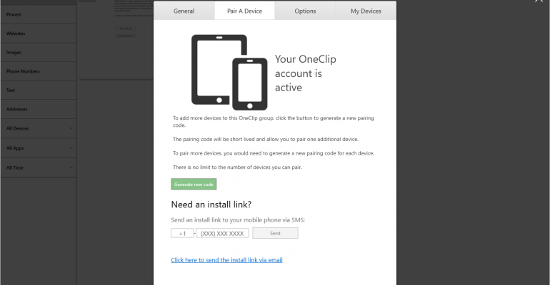 Gallery: OneClip App for Windows 10