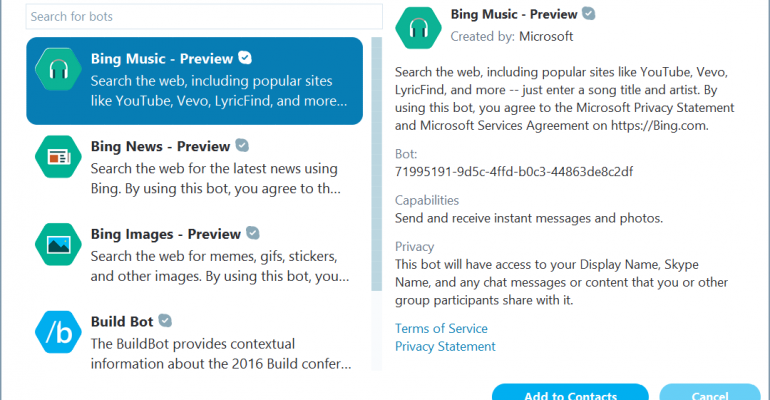 Build 2106: Hands On with Skype Bots