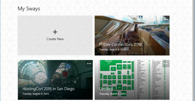 Microsoft Sway Makes Its Official Windows 10 Debut
