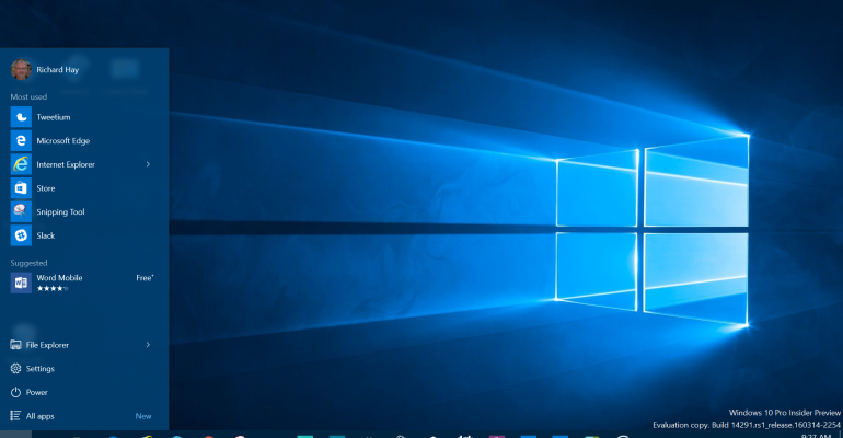 Windows 10 Build 14291 - Visual Changes and Enhancements