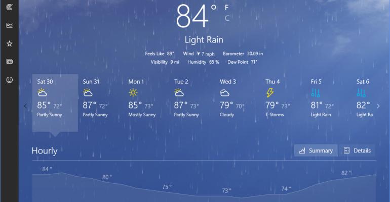 Gallery: Universal Windows Platform Weather App on Windows 10