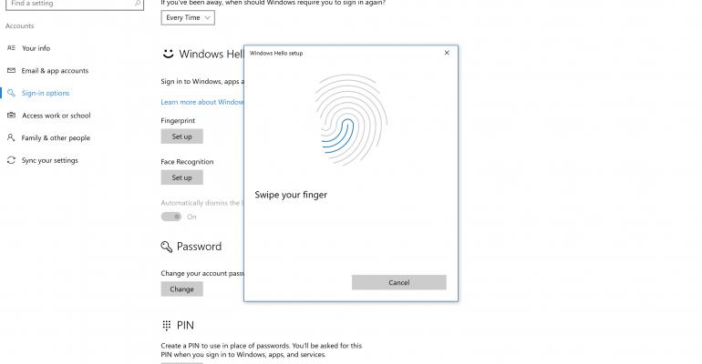 How To Setup Windows Hello in the Windows 10 Anniversary Update