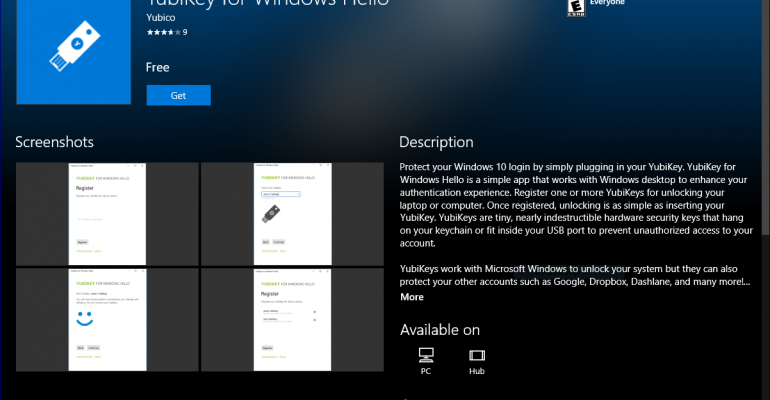 Hands On: YubiKey and Windows Hello