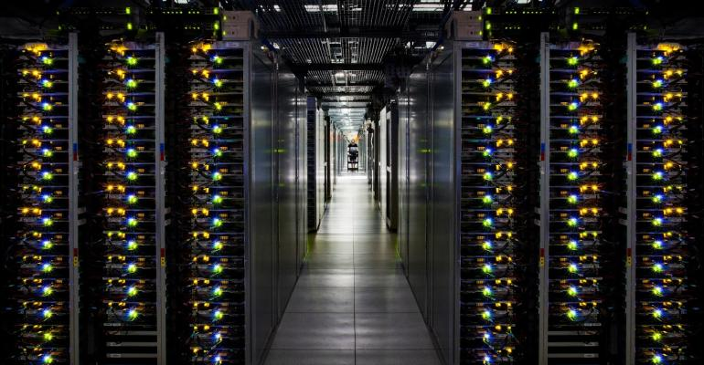 Servers in Google Cloud Platform data center