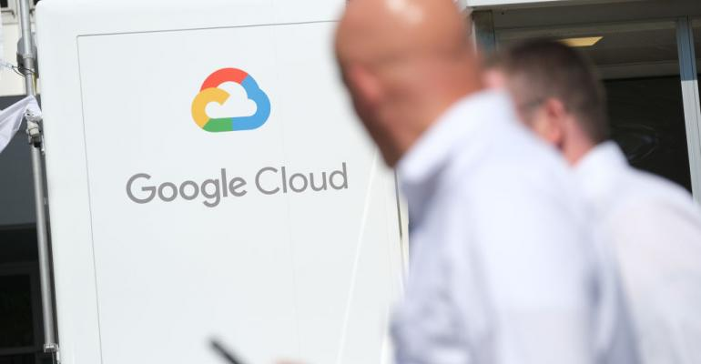 Google Cloud exhibit at the 2019 IAA Frankfurt Auto Show in September 2019