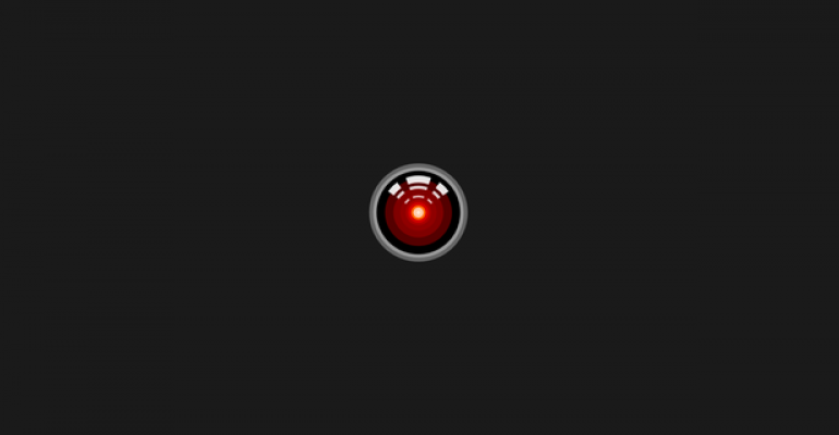 An image of Hal-9000 from the movie 2001: A Space Odyssey