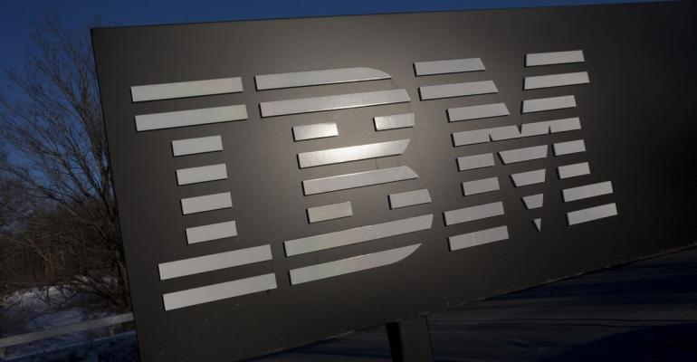 The International Business Machines Corp. (IBM) signage is displayed in front of the Thomas J. Watson Research Center, the headquarters of the company's research, in Yorktown Heights, New York, U.S. Photographer: Scott Eells/Bloomberg