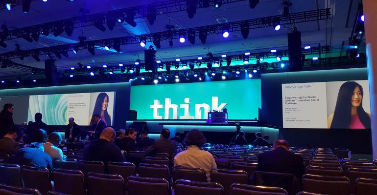 IBM Think keynote stage in San Francisco at the Moscone Center
