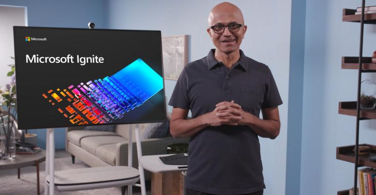microsoft ignite satya nadella keynote
