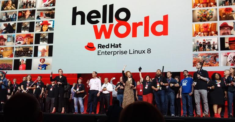 Jim Whitehurst ending opening keynote at Red Hat Summit