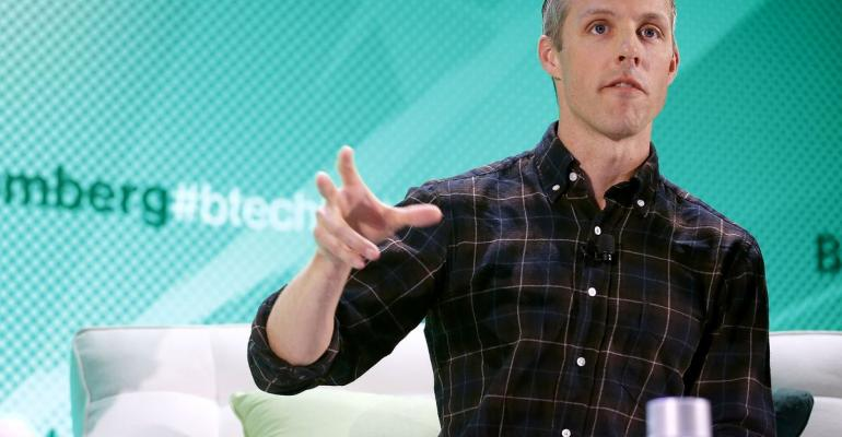 Jay Simons, president of Atlassian Software Systems Ltd. onstage during a Bloomberg Tech Conference