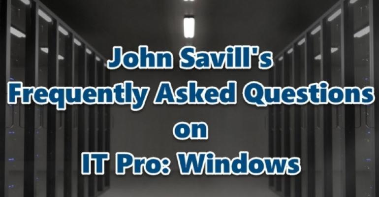 John Savill FAQs on IT Pro