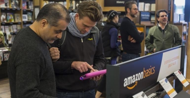 Customers at Kindle retail display