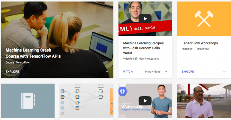 Learn with Google AI applications