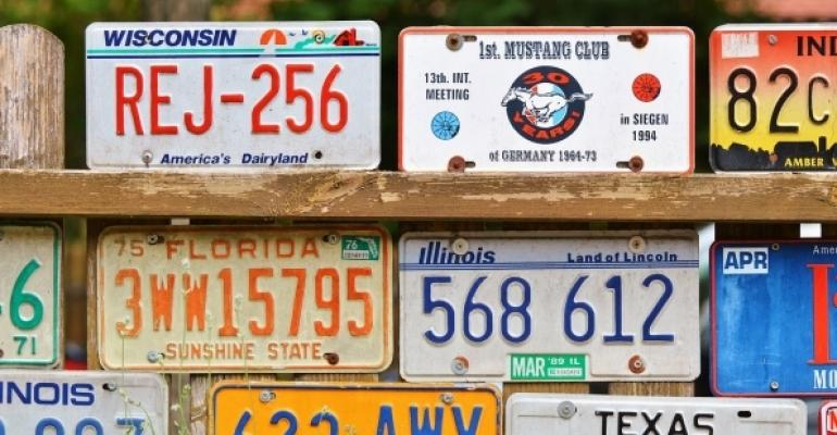 License Plates from US states