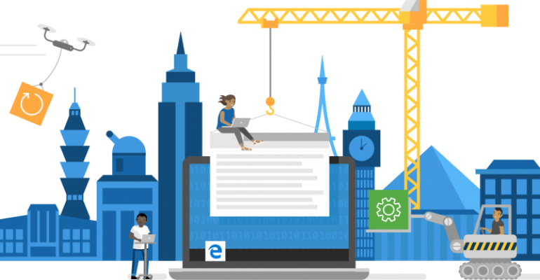 Microsoft Edge Browser with Chromium Under Construction