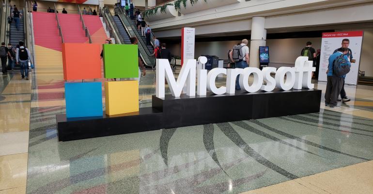 microsoft logo display ignite orlando florida