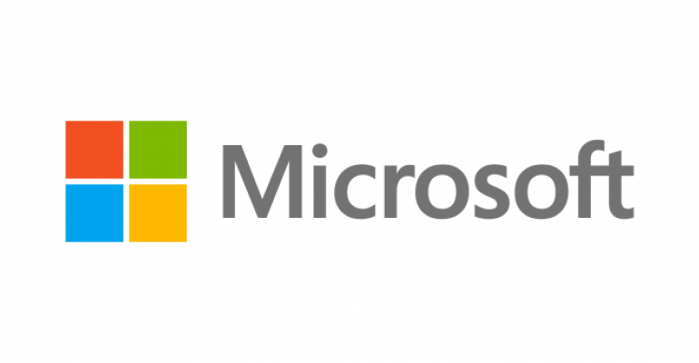 Microsoft Logo on White Background