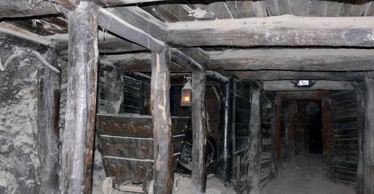 Photo of an old mine.