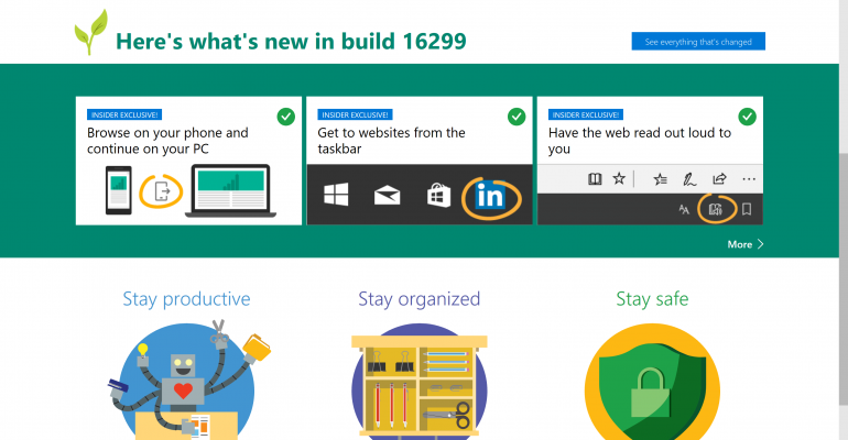 Microsoft Edge - What's New in Build 16299