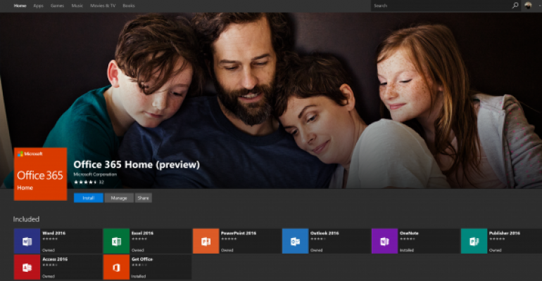 Office 365 Home Preview in Windows Store