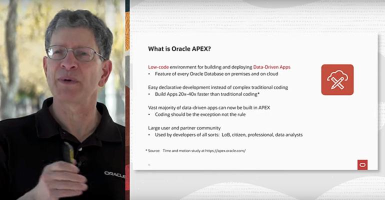 Oracle VP Andrew Mendelsohn and APEX